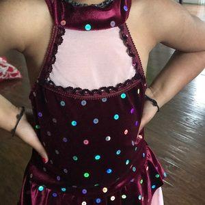 Dresses & Skirts - Girls pastel sequin mock neck costume Tutu dress.